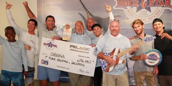 Pelagic Rockstar Tournament, Costa Rica 2021. First Prize for Cabana